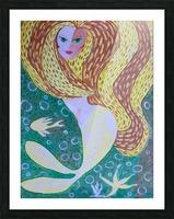 Mermaid Underwater  Picture Frame print