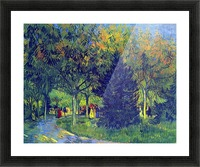 Allee in the Park by Van Gogh Picture Frame print