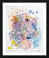 Cocker Spaniel Dog - Portrait of Charlie Picture Frame print