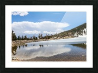 Colorado Glacier Picture Frame print