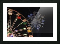 Ferris Wheel and Fireworks Picture Frame print
