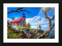 Lake Superior Lighthouse Picture Frame print