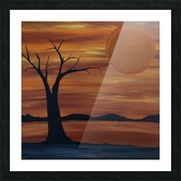 Ares tree acrylic painting Picture Frame print