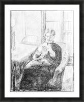An old woman knitting by Cassatt Picture Frame print