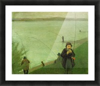 Anglers on the Rhine by Macke Picture Frame print