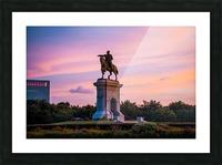 Sam Houston Herman Park Picture Frame print