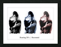 Roaring 20s Recreation Model released triptych of a 1920s flapper. Picture Frame print