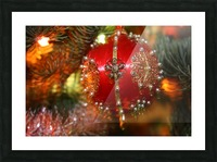 Festive Christmas holiday background with Santa Claus presents and tree. Picture Frame print