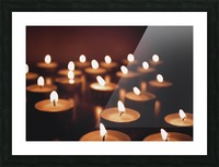 Candles on dark background Picture Frame print