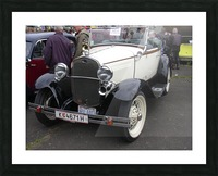 Vintage car in italian exposition Picture Frame print