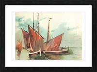 Greeting card Sailing boats Picture Frame print