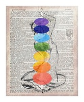 Potential Energy Chakras Colors Picture Frame print