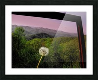 Alone yet Connected Picture Frame print