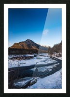 Blue freeze Picture Frame print