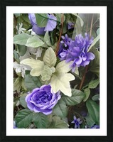 Blue flowers Picture Frame print