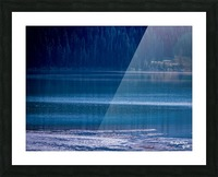 Rocky Mountains Deep Blue Picture Frame print
