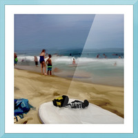 Beach at 52nd Street Picture Frame print