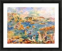 At the beach of Guernesey by Sisley Picture Frame print