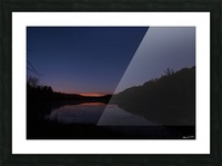 Starlit Pond Picture Frame print
