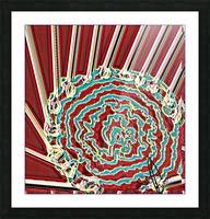 Phosphorescent Fairground Ferris Wheel Picture Frame print