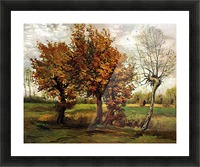 Autumn Landscape with Four Trees by Van Gogh Picture Frame print