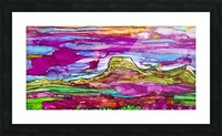 Chief Mountain Sunset  Picture Frame print