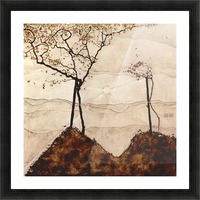 Autumn sun and trees by Schiele Picture Frame print