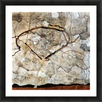 Autumn tree in the wind Schiele Picture Frame print