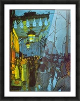 Avenue De Clichy by Anquetin Picture Frame print