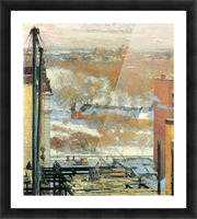 The hut and the skyscrapers by Hassam Picture Frame print