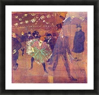 Ball At Moulin-Rouge by Toulouse-Lautrec Picture Frame print