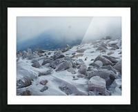 Mountainside with Snow-covered Rocks Picture Frame print