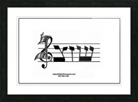 monogram  musical  vctrzd BBB Picture Frame print