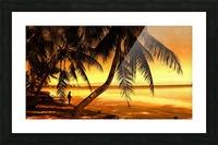 Fiery Hour Saipan Picture Frame print