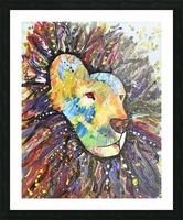 Lively Lion.Maggie Z Picture Frame print