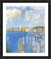 The inland port of Gloucester by Hassam Picture Frame print