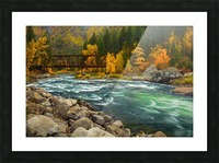 Emerald Flow Picture Frame print