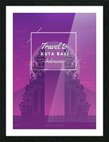 Travel To Kuta Bali   Indonesia Picture Frame print