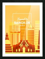Travel To Bangkok   Thailand Picture Frame print