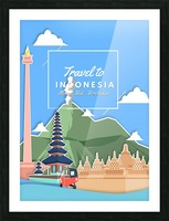 Travel To Indonesia Picture Frame print
