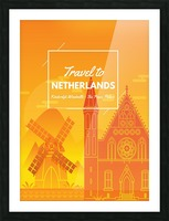 Travel To Netherlands Picture Frame print
