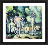 Bathers 3 by Cezanne Picture Frame print