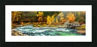 Emerald Flow Pano Picture Frame print