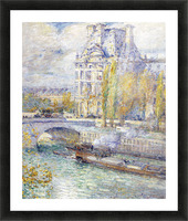 The Louvre on Pont Royal by Hassam Picture Frame print