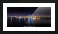 Milwaukee Skyline of Color Impression et Cadre photo