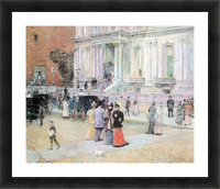 The Manhattan Club (The Villa of the Stewarts) by Hassam Picture Frame print