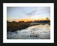 Frosted Ice at Dawn Picture Frame print