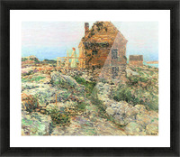 The Norwegian hut by Hassam Picture Frame print