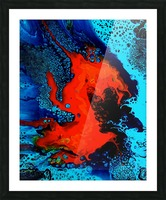 Burning Like a Fire Picture Frame print