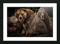 Brown Bear Brothers Picture Frame print